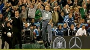 Ireland manager Martin O'Neill celebrates at the final whistle against Germany