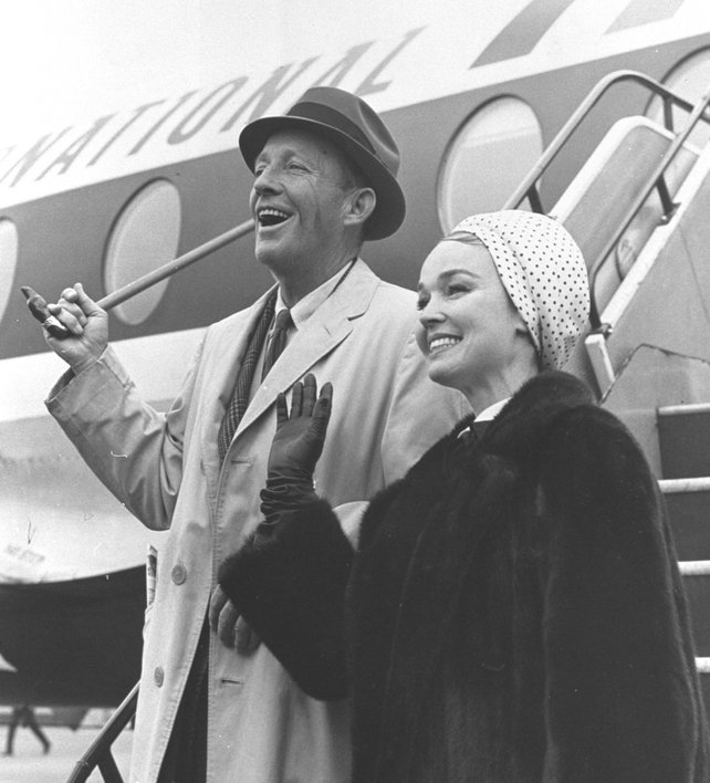 Bing Crosby, singer/actor and his wife Kathryn Grant (1966)