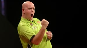 Michael van Gerwen: 'If I play my game he won't touch me' (pic: Lawrence Lustig/PDC)