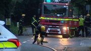 Emergency services were called to the scene overnight
