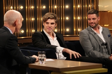 Keith Duffy with son Jay on The Ray D'Arcy Show