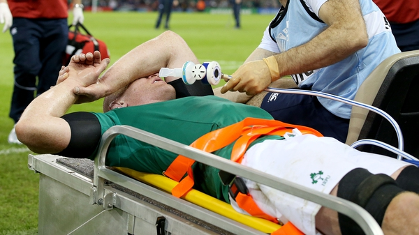 Paul O'Connell sustained an injury just before half-time against France