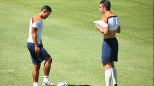 Depay and Van Persie together at training last last year's World Cup