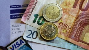 The minimum wage is going up by 30 cent to €9.55 per hour from today