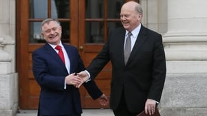 Brendan Howlin and Michael Noonan limber up for their speeches