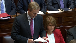 Enda Kenny spoke of visiting the scene of the fire which was filled with 'silence and sadness'