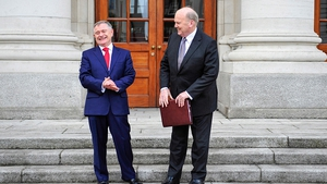The ministers announced the Budget in the Dáil yesterday