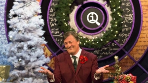 Stephen Fry on the set of QI. Pic: BBC