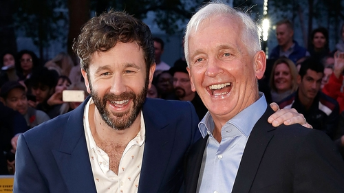 Chris O'Dowd and David Walsh at the BFI London Film Festival screening of The Program