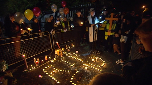 Hundreds of people took part in this evening's candlelit vigil