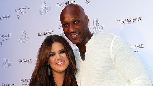 Lamar Odom with Khloé Kardashian