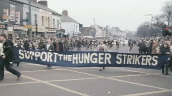 Hunger Strike March In Belfast