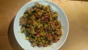 Lina Gautam's Spicy Lamb Salad (Choila)