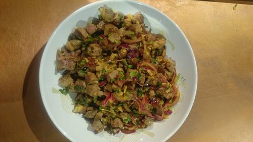 Lina Gautam's Spicy Lamb Salad (Choila)