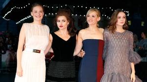 Romola Garai, Helena Bonham Carter, Anne-Marie Duff and Carey Mulligan attend the London  premiere of Suffragette