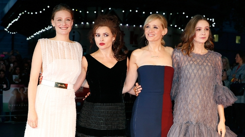 Romola Garai, Helena Bonham Carter, Anne-Marie Duff and Carey Mulligan attend the London  premiere of Suffragette