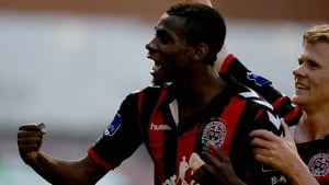 Ishmail Akinade scored for Bohs in the 34th minute