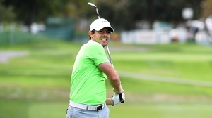 Rory McIlroy is in action in the European Tour's DP World Tour Championship this week