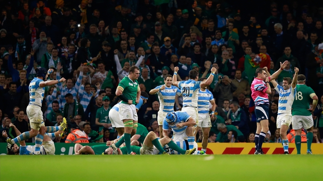 Ireland were hammered by Argentina at the Rugby World Cup