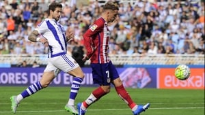 Antoine Griezmann chips 'keeper Geronimo Rulli for the opener