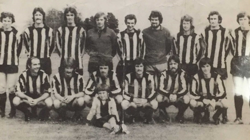 The Athlone squad that did the League of Ireland proud in 1975