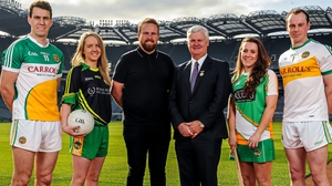 Shane Lowry has previously supported his county, as seen here six years ago, but he will now help commercial and fundraising initiatives as well