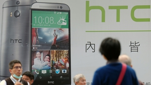 HTC's worldwide smartphone market share declined to 0.9% last year from a peak of 8.8% in 2011