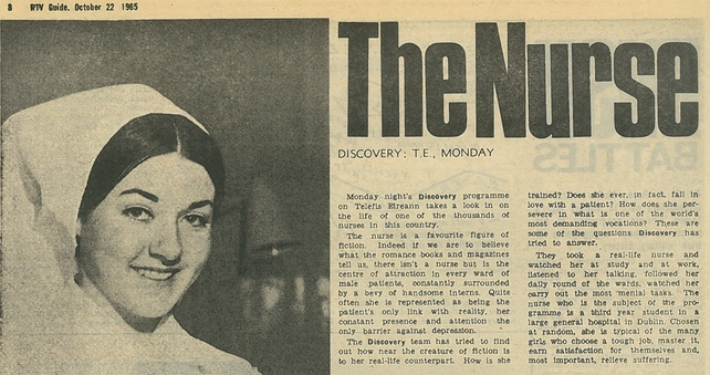 The Nurse : RTÉ Guide, 22 Oct 1965