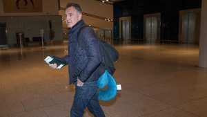 Billy Walsh at Dublin Airport this morning for his flight to the US