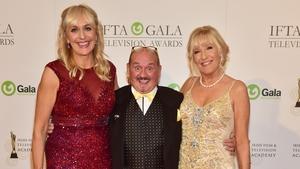 Miriam O'Callaghan, Lifetime Achievement award-winner Brendan O'Carroll and Jenny Gibney
