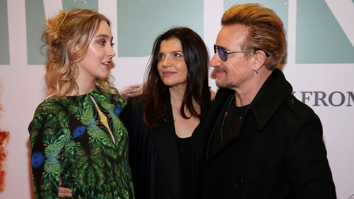 Saoirse, Ali Hewson and Bono at tonight's premiere of Brooklyn