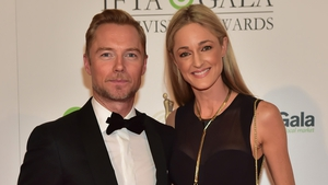 Ronan Keating and wife Storm Uechtritz on the IFTAs red carpet
