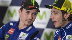 Jorge Lorenzo and Valentino Rossi are both chasing the driver's title