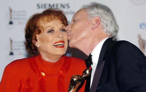 Maureen with Gay Byrne