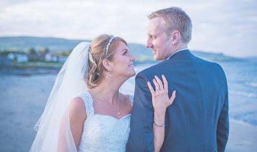 John and Lynette Rodgers on their wedding day last week. Pic: Caroline Smyth