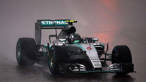 Nico Rosberg topped the time sheets for the US GP qualifying