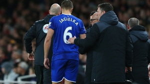 Jagielka, 33, picked up the injury in the 2-1 loss at Arsenal