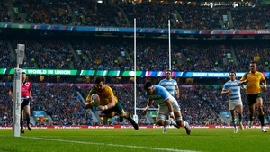 Adam Ashley-Cooper of Australia scored a hat-trick to see off the Pumas