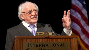 Michael D Higgins said the funding would lead to a deepening of relations between UC Berkeley and Ireland