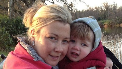Gillian Treacy pictured with her son Ciaran