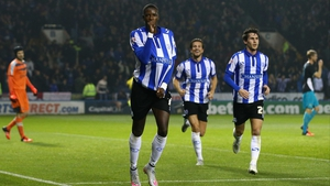 Lucas Joao of Sheffield Wednesday celebrates after scoring his team's second goal at Hillsborough