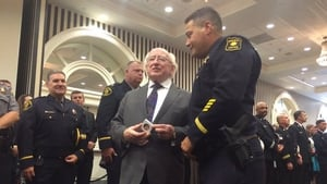 President Michael D Higgins personally thanking some of the Berkeley police