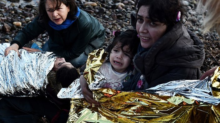 Five children die after migrant boats sink off Greece