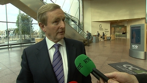 Enda Kenny said the issue of bank security was raised during a taskforce meeting over the euro crisis