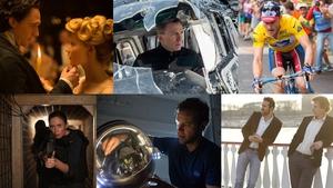Clockwise from top left: Crimson Peak, SPECTRE, The Program, Mississippi Grind, The Martian, Sicaro