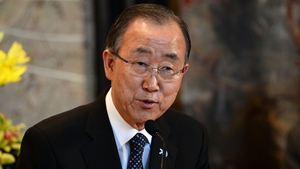 UN Secretary General Ban Ki-moon said he was 'encouraged' that high-level leaders are meeting in Vienna