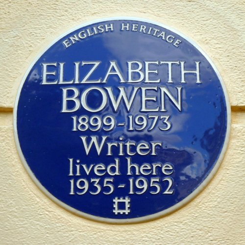 Elizabeth Bowen - plaque outside 2 Clarence Terrace, Regents Park, London