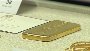 Mainly gold bars were sold during an online auction this morning