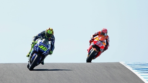 Valentino Rossi (L) clashed with with Marc Marquez (R) in Malaysia