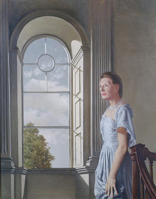 Portrait of Elizabeth Bowen at Bowenscourt by Patrick Hennessy RHA from The Crawford Art Gallery, Cork